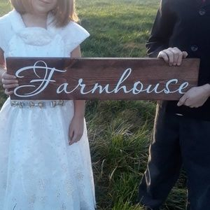 Wood Farmhouse Sign Home Decor Kitchen Dining room
